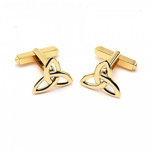 Trinity Knot Cuff Links - Yellow Gold