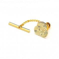Épingle à cravate spirale Newgrange - or jaune