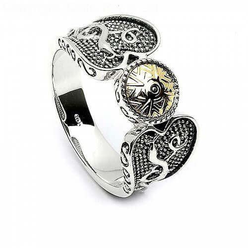 Wikinger Ring Mit 18k Goldperle