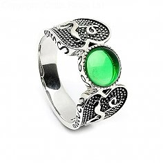 Viking Green Stone Ring