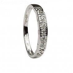 Damen Celtic Eternity Ring mit 5 Diamanten