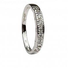 Ladies Celtic Eternity Ring with 5 Diamonds