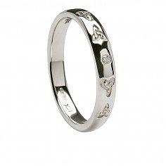 Mens Diamond Celtic Trinity Knot Wedding Band