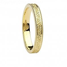 Womens Celtic Knot Yellow Gold Wedding Ring