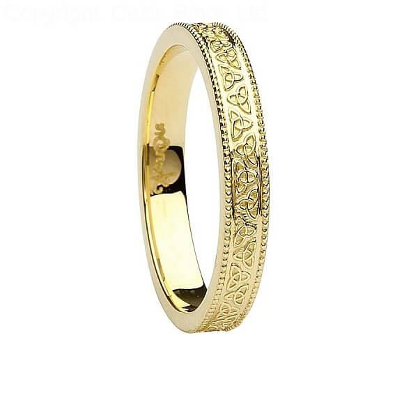 Womens celtic wedding rings
