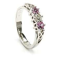 Trinity Pink Sapphire Ring