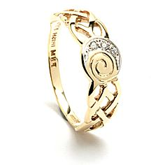 Diamond Celtic Spiral Ring