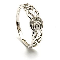 Womens Celtic Spiral Ring