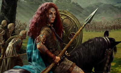 Boudicca with Spear