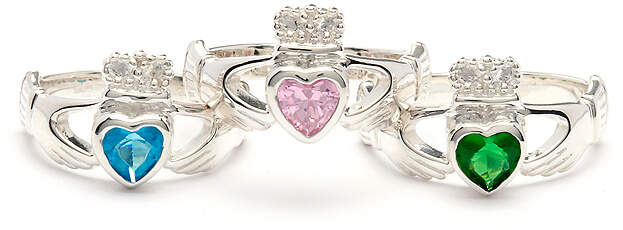 Claddagh Birthstone Rings