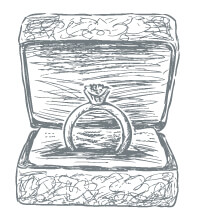 Celtic ring in a box