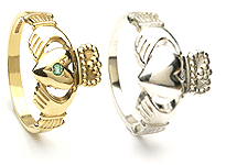 Claddagh Ring Wedding Sets
