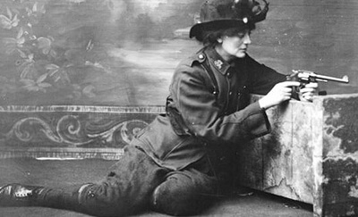 Constance Markievicz in Army Uniform