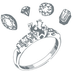 Engagement ring parts