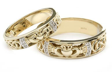 Image of Claddagh Wedding Rings