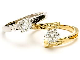 Bild der keltischen Verlobungsringe