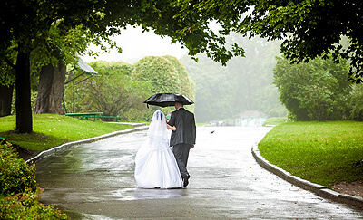 Irish Wedding Day Rain